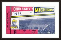 1955 Michigan vs. Ohio State Football Ticket Art Picture Frame print