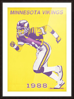 1988 Minnesota Vikings Football Poster Picture Frame print