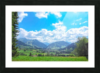 The Last Paradise in a Crazy World Gstaad Switzerland Picture Frame print