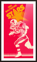 1985 Baltimore Stars USFL Football Art Picture Frame print
