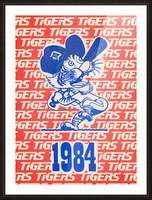 1984 Detroit Tigers Baseball Poster Picture Frame print