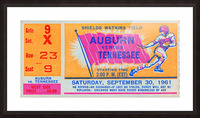 1961 Tennessee vs. Auburn Football Ticket Art Picture Frame print