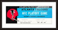 1978 Atlanta Falcons Ticket Stub Art Picture Frame print