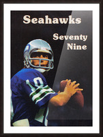 1979 Seattle Seahawks Jim Zorn Poster Picture Frame print