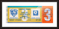 1971 Chicago Bears vs. Dallas Cowboys Ticket Art Picture Frame print