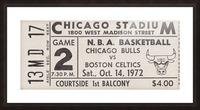1972 Chicago Bulls vs. Boston Celtics Ticket Stub Art Picture Frame print