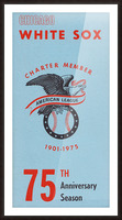 1975 Chicago White Sox Retro Poster Picture Frame print