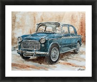 1960 Fiat 1100 103 H Picture Frame print