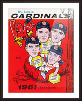 1961 St. Louis Cardinals Yearbook Poster Picture Frame print