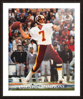 1983 Washington Joe Theismann Poster Picture Frame print