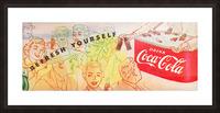 1954 Vintage Coke Ad Picture Frame print