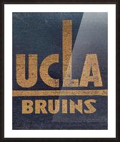 Vintage UCLA Bruins Art Picture Frame print