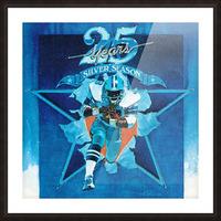 1984 Dallas Cowboys Silver Season Art Picture Frame print
