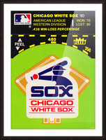 1980 Chicago White Sox Fleer Decal Wall Art Picture Frame print