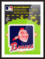 1981 Atlanta Braves Fleer Decal Poster Picture Frame print