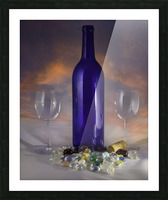 Sunset and Wine Picture Frame print