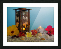Candles and Flowers Picture Frame print