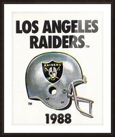 1988 Los Angeles Raiders Helmet Art Picture Frame print