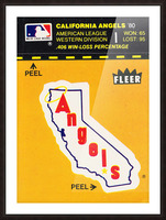 1981 Fleer Decal Poster California Angels Picture Frame print