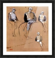 Study with four jockeys by Degas Picture Frame print
