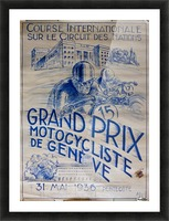 Grand Prix Motocycliste Picture Frame print