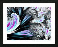 Abstract background waves. Picture Frame print
