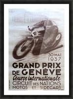 Grand prix de Geneve Picture Frame print