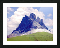 Mountain Peak in the Swiss Alps Picture Frame print