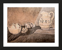 Fruit and Pitcher Picture Frame print