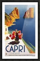 Vintage Capri Picture Frame print