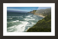 Eagles Flying Along the Coast Picture Frame print