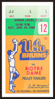 1980 UCLA Bruins Basketball Ticket Stub  Art Picture Frame print