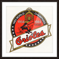 1983 Baltimore Orioles World Champions Art Impression et Cadre photo
