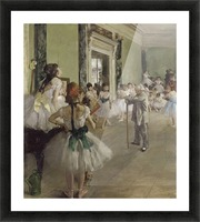 The Ballet Class by Degas Picture Frame print
