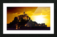 Majestic Mount Saint Michael Panorama Picture Frame print