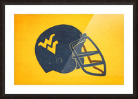 1985 West Virginia Mountaineers Football Helmet Art Picture Frame print