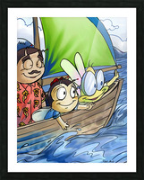 Sail Away with Us Picture Frame print