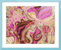 Paint Pour Tan and Pink Picture Frame print