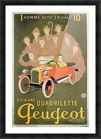 Quadrilette Peugeot Picture Frame print