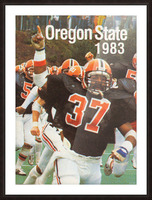 1983 Oregon State Beavers Football Poster Picture Frame print