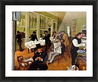 The cotton exchange by Degas Picture Frame print