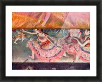 The curtain falls by Degas Picture Frame print