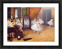The dance hall by Degas Picture Frame print