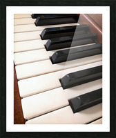 Piano Keys One Octave Plus Picture Frame print