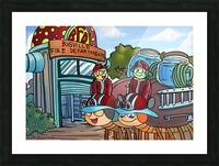 At the Fire Department - Places in Bugville Collection 2 of 4 Picture Frame print