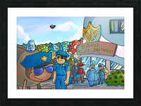 At the Police Department - Places in Bugville Collection 3 of 4 Picture Frame print