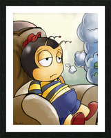 Exhausted - Thoughts on a Long Day - Buster Bee Picture Frame print