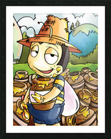 Honey Trouble for  Buster Bee Picture Frame print
