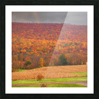 Painted Fall In The Mountains Picture Frame print