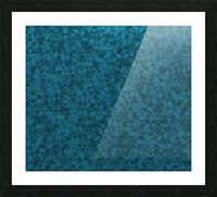 Dark Blue Glitter Pattern Picture Frame print